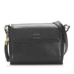 Valentino Leather Tassel Crossbody Bag