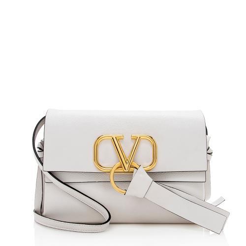 Valentino Leather V-Ring Crossbody Bag