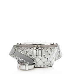 Valentino Metallic Calfskin Rockstud Belt Bag