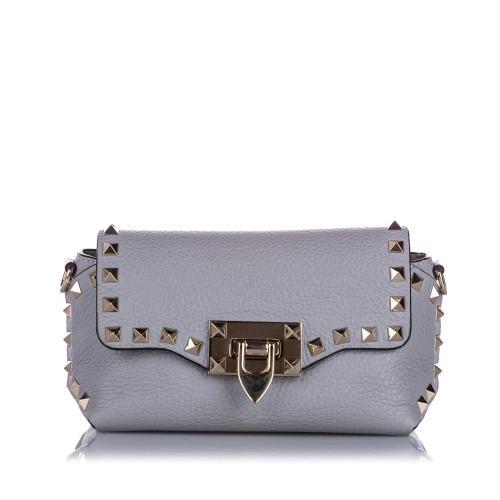 Valentino Leather Mini Rockstud Crossbody Bag