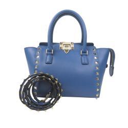 Valentino Mini Rockstud Leather Satchel