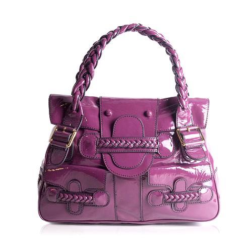 Valentino Patent Leather Histoire Handbag