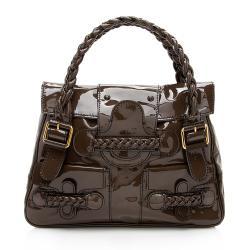 Valentino Patent Leather Histoire Satchel