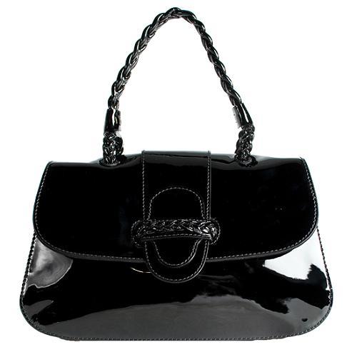 Valentino Patent Leather New Histoire Satchel Handbag