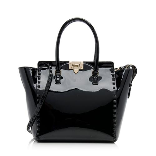 Valentino Patent Leather Rockstud Tote