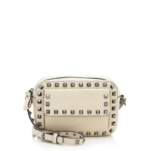 b371cb383f Valentino Pebbled Leather Rockstud Pocket Camera Bag