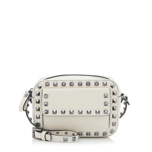 077fcde578e9 Valentino Pebbled Leather Rockstud Pocket Camera Bag