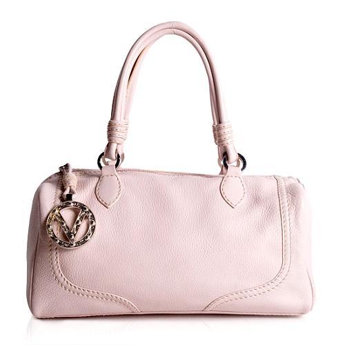 Valentino Pebbled Leather Satchel Handbag
