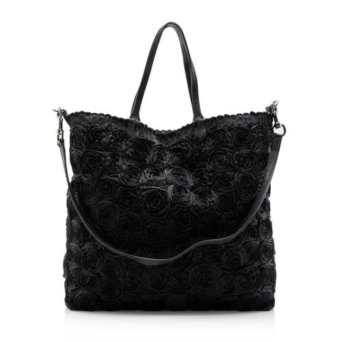 Valentino Pleated Rosier Tote