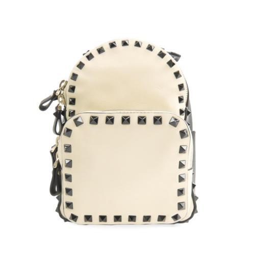 Valentino Leather Rockstud Backpack