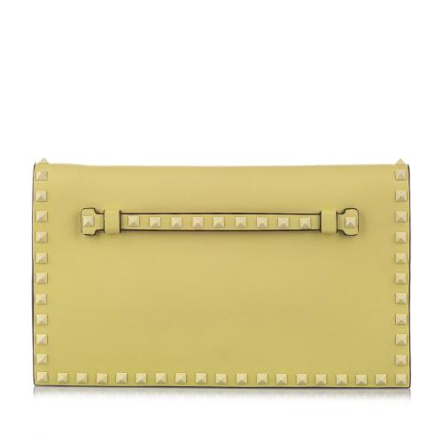Valentino Rockstud Leather Clutch Bag