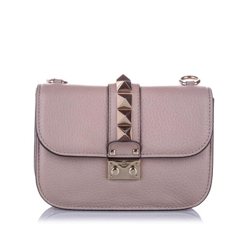 Valentino Small Rockstud Glam Lock Crossbody Bag