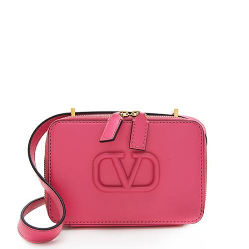 Valentino Smooth Calfskin VSLING Small Camera Crossbody Bag