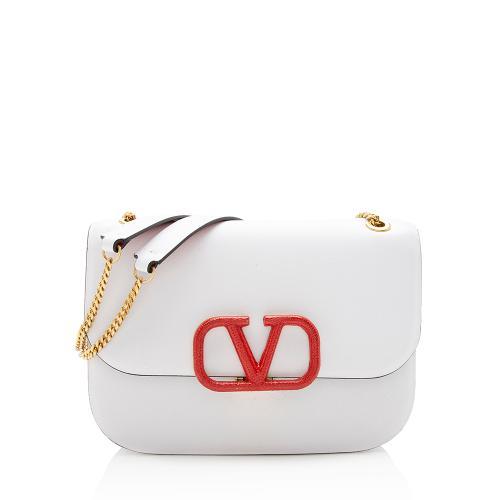 Valentino Smooth Calfskin Vsling Chain Shoulder Bag