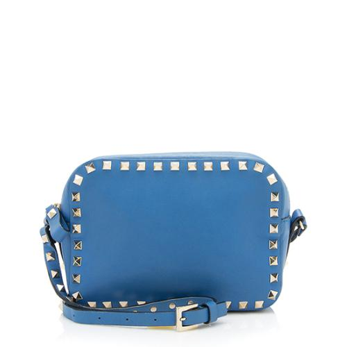 Valentino Smooth Leather Rockstud Camera Bag