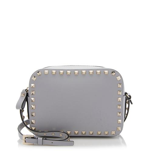 8066f84be16 Valentino Smooth Leather Rockstud Camera Bag