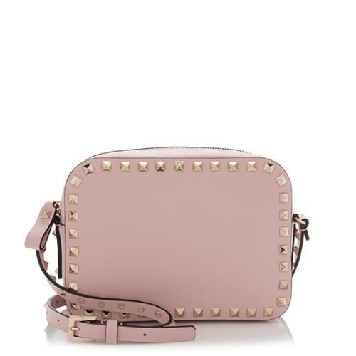 Valentino Smooth Leather Rockstud Camera Bag