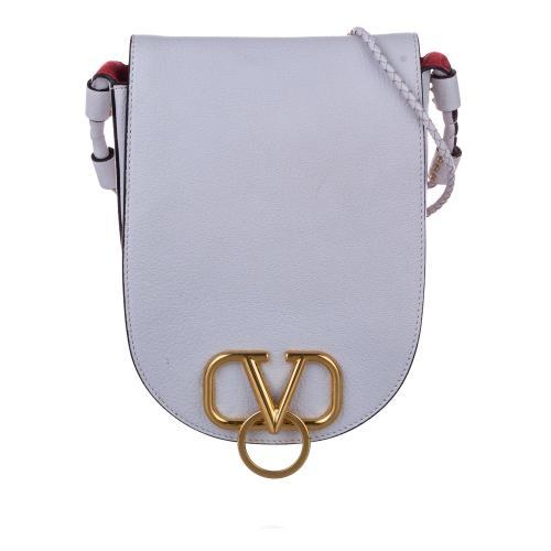 Valentino VRing Leather Saddle Bag