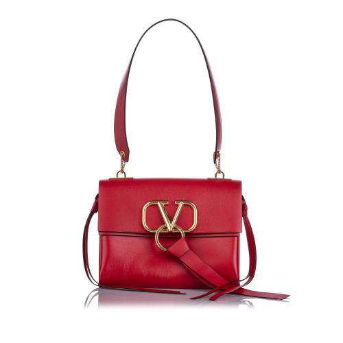 Valentino Leather VRing Shoulder Bag