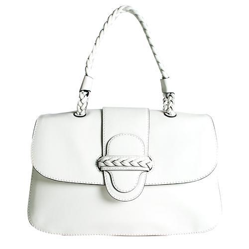 Valentino Vitello Braided Handle Satchel Handbag