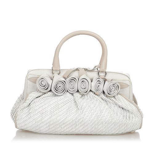 Valentino Woven Leather Handbag