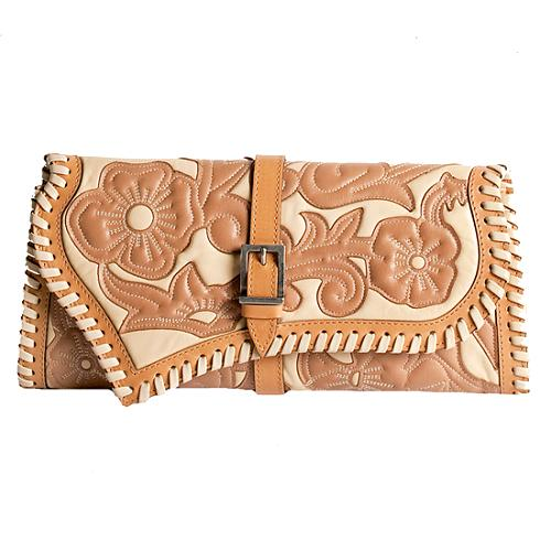 Versace Floral Stitched Clutch
