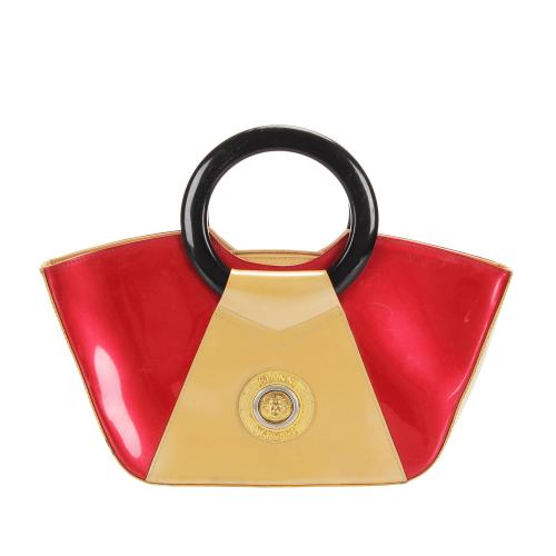 Versace Leather Gianni Satchel