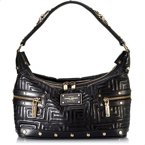Versace Hand Quilted Small Hobo