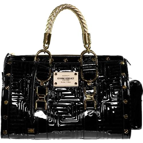 Versace Hand Quilted Snap Out Of It Satchel Handbag