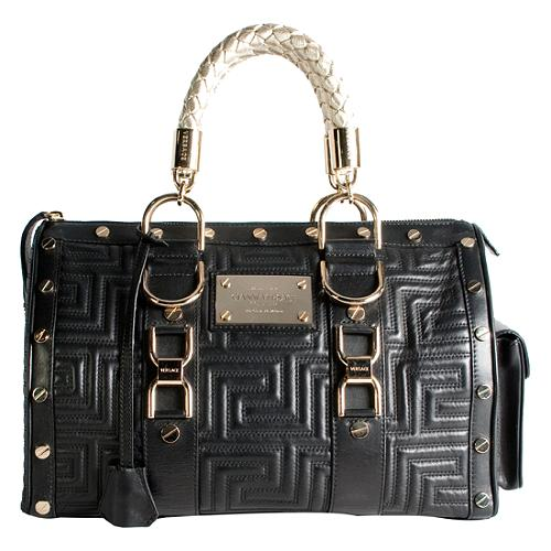 cb704236d6 Versace Hand Quilted  Snap Out Of It  Satchel Handbag