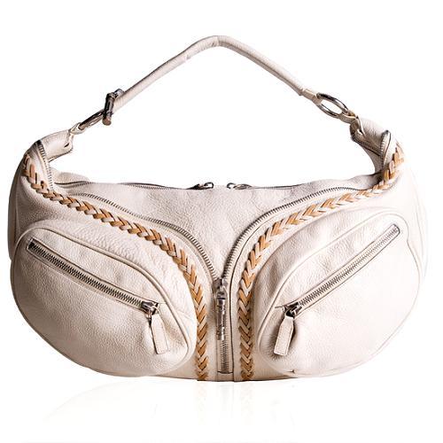 Versace Leather Biker Handbag