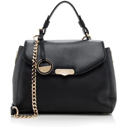 Versace Leather Convertible Top Handle Satchel