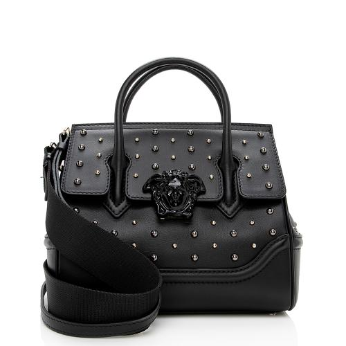Versace Leather Studded Palazzo Empire Satchel