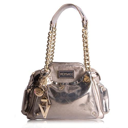 Versace Logo Dome Shoulder Handbag