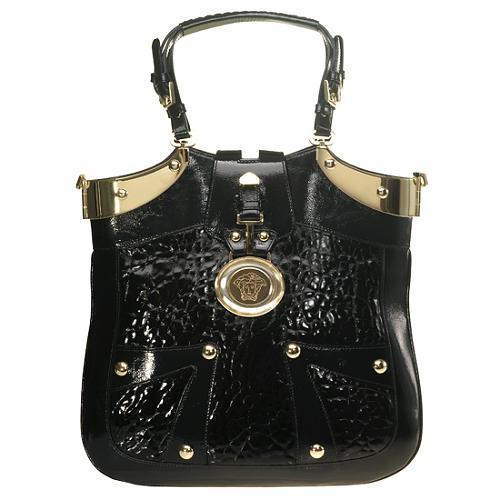 Versace Patent Large Icon Handbag