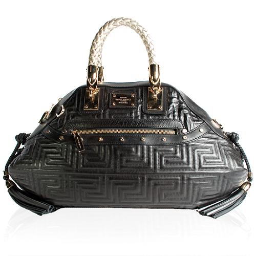 Versace Quilted Couture Small Satchel Handbag