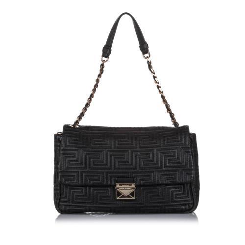 Versace Quilted Leather Shoulder Bag