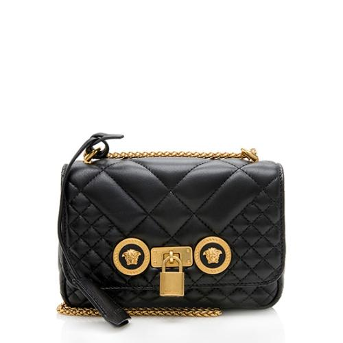 Versace Quilted Leather Trapuntata Chain Shoulder Bag