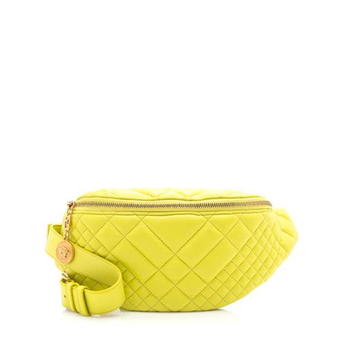Versace Quilted Nappa Leather Belt Bag
