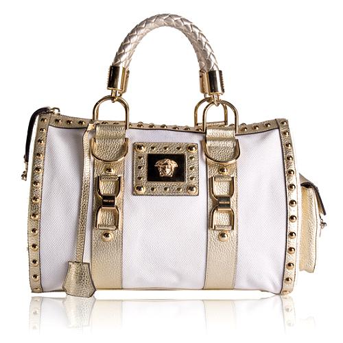 Versace Snap Out Of It Satchel Handbag