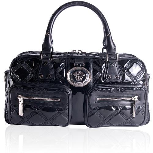 Versace Vitello Satchel Handbag