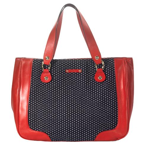 kate spade Dotted Canvas and Leather Tote