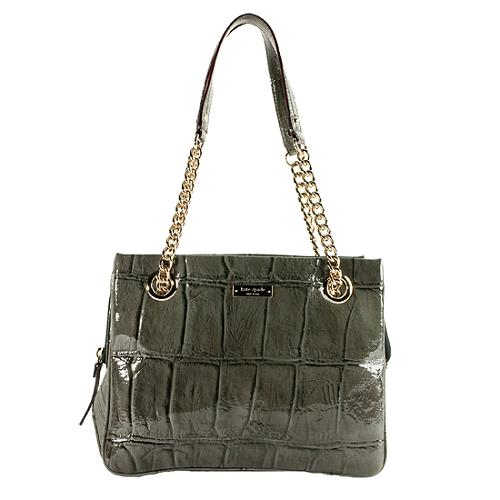Kate Spade Knightsbridge Croc Embossed Darcy Shoulder Handbag