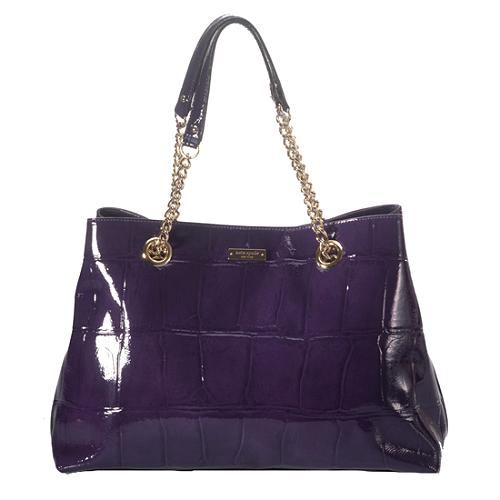 kate spade Knightsbridge Maryanne Croc Embossed Leather Tote