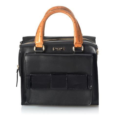 kate spade New York Little Kennedy Ostrich-Embossed Top Handle Handbag