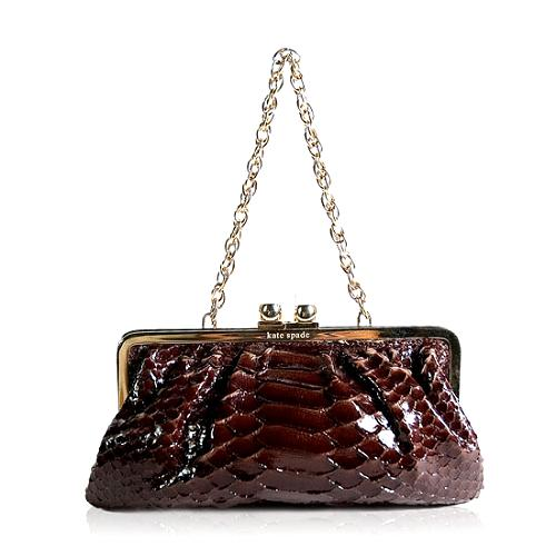 kate spade Python Evening Shoulder Handbag