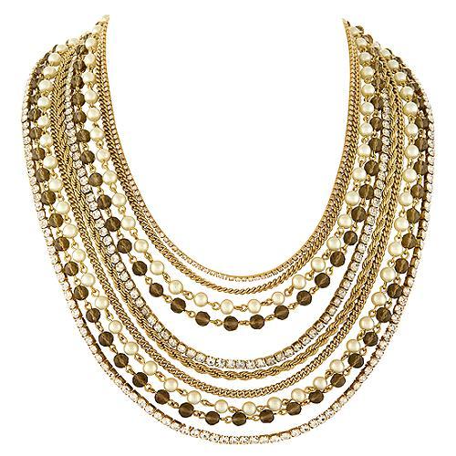 A.B.S. by Allen Schwartz Layered Chain Necklace