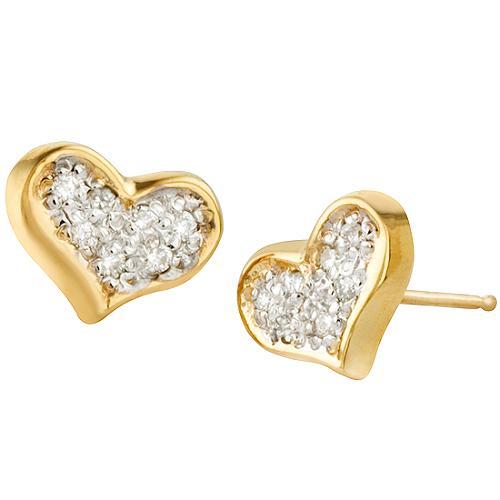Alex Woo Little Princess Heart Earrings