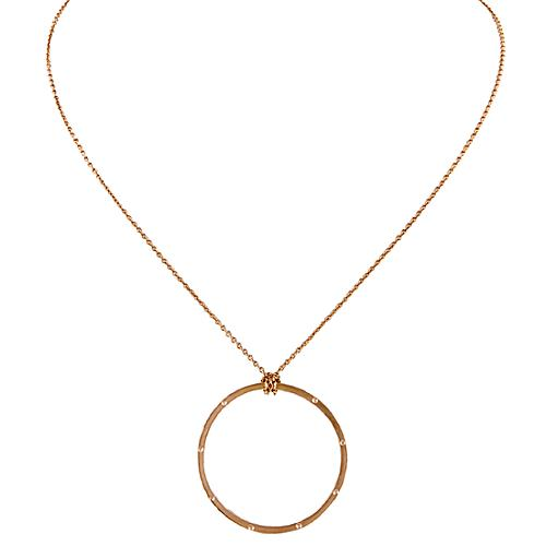 Alex Woo Rose Gold Circle Necklace