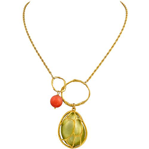 Alexis Bittar Cage Charm Necklace